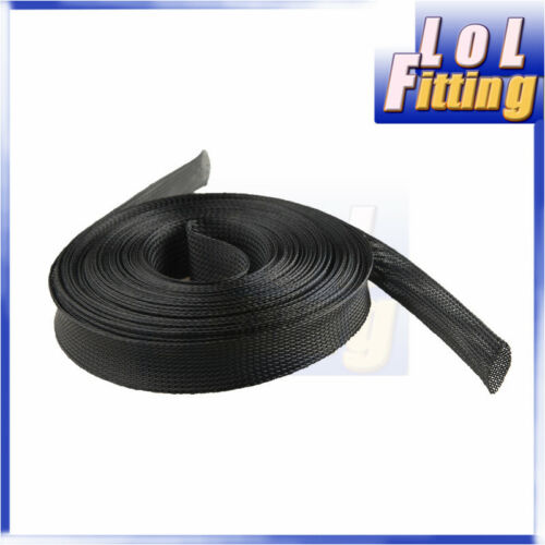 3//10//13//26MM Expandable Wire Cable Sleeving Sheathing Braided PET Tubing 15//30M
