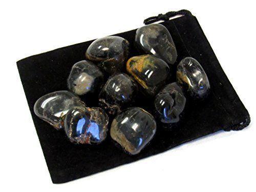 1//2 lb Lot Tumbled Black Onyx Natural Polished Gemstones Zentron Crystals