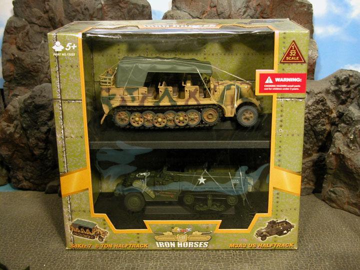 RETIrot Ultimate Soldier WWII German Sdkfz 7 8 Ton Halftrack & US M3A3 Halftrack