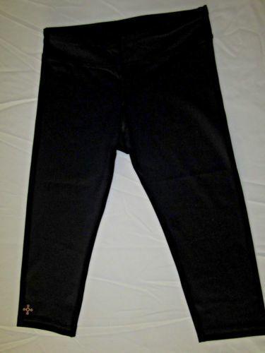 Black 8-9 Tommie Copper Girls Core Capri Bottom Pants Small