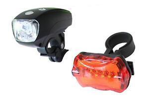 1Watt-Clamaro-LED-Fahrradbeleuchtung-Fahrradlicht-Fahrradlampe-Fahrrad-Lampenset