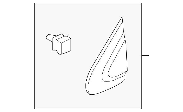 Genuine  Garnish Assembly R Front Pillar Corner 75490-TG7-A01