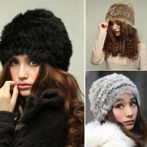 Women-039-s-Winter-Warm-Beanie-Faux-Fur-Russian-Hats-Stylish-Casual-Knitted-Ski-Caps