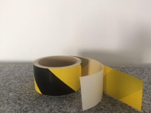 PVC industria distintivo Band 50 mm 11 LFM amarillo negro autoadhesivo