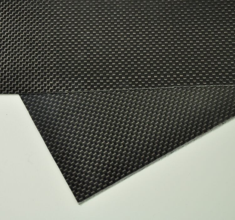 500mmX500mmX1mm 100% Carbon Fiber plate panel sheet 3K plain Glossy ZY  01