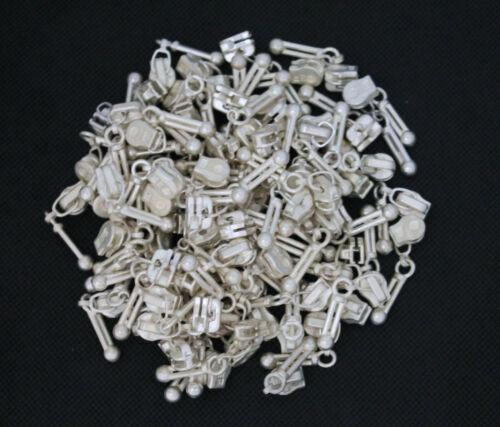 Zipper Nummer 4,5 für die Reißverschlüsse mit Metall Zähne 5 mm Silber Schieber