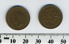 Canada 1940 - 1 Cent Bronze Coin - King George VI - WWII Mintage