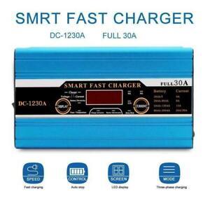 30A-LCD-Leisure-Battery-Charger-For-12v-Caravan-Campervan-Motorhome-Boat-Battery