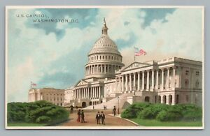 US-Capitol-J-Koehler-Rare-Early-Pub-UDB-Antique-WASHINGTON-DC-Postcard-lt-1908