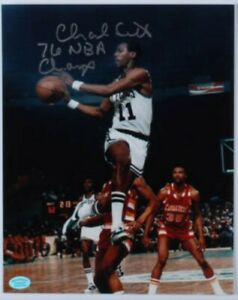 "Charlie Scott Signed 8x10 Photo inscribed ""76 NBA Champ"" (Hollywood COA)"
