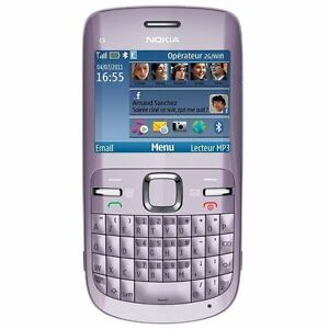 Nokia C3 00 Lilac Light Purple Wifi Mobile Handphone Hp Phone Qwerty