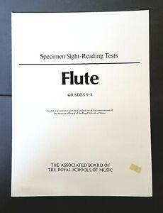 Abrsm Specimen Sight-reading Tests-flute Grades 6-8-afficher Le Titre D'origine