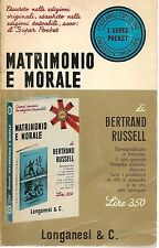 MATRIMONIO E MORALE - BERTRAND RUSSEL