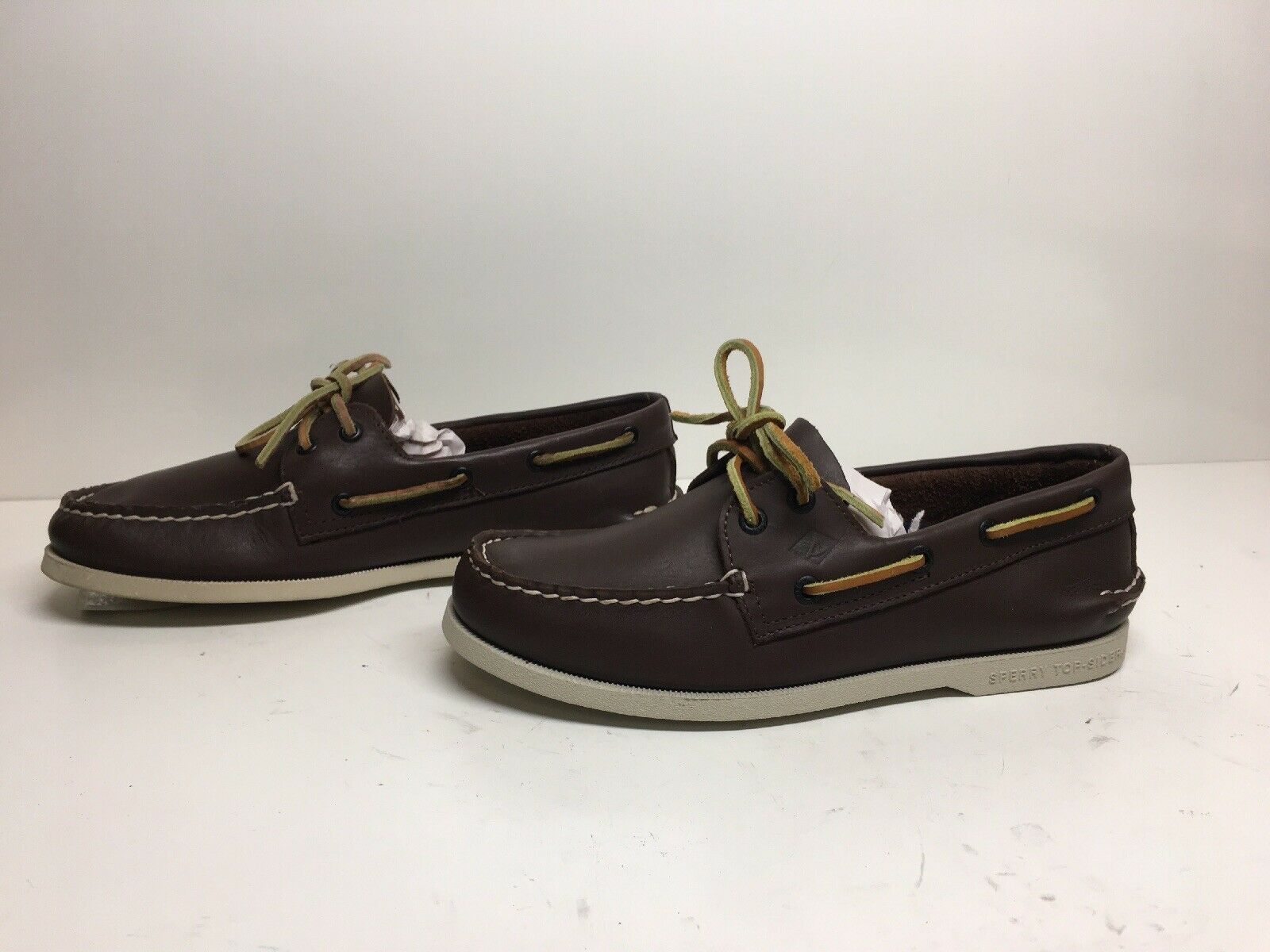 VTG MENS SPERRY TOP SIDER CASUAL BROWN SHOE SIZE 7 M DEFECTS
