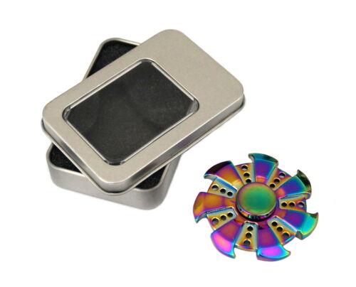 10x Fidget Spinner metal juguetes Alloy relajación Rainbow Focus