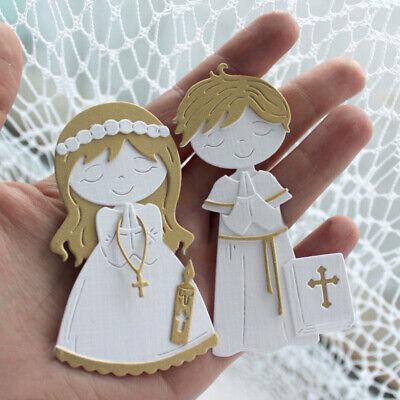 Stanzschablone Junge Mädchen Hochzeit Weihnachten Geburtstag Album Karte DIY