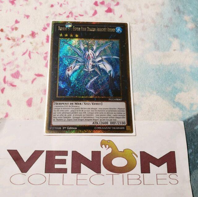 Woven Dragon Spider Shark 1st Edition Gold Secret Rare PGL3-EN007 Number 37