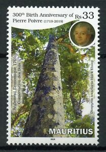 Mauritius-2019-MNH-Pierre-Poivre-300th-Birth-Anniv-1v-Set-Trees-Nature-Stamps