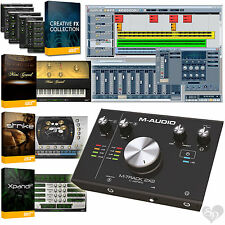 M-Audio M-Track 2X2 C-Series USB + USB-C Audio Recording Interface + Cubase LE