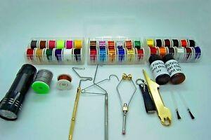 Kit-de-Herramientas-Materiales-para-Moscas-Hilo-Tinsel-Pegamento-Whip-Finisher