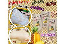 24 bar Alpha Arbutin AHA 80% Pineapple Soap Skin Whitening Lightening Bleaching