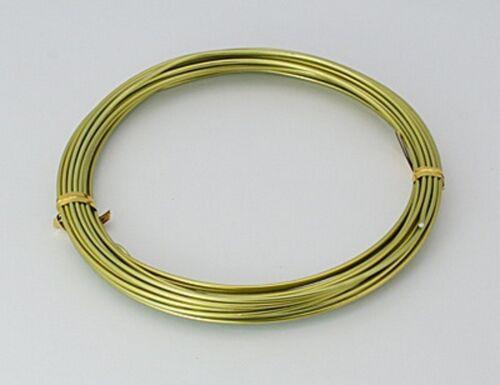 6m 2mm Aludraht Aluminiumdraht Aluminium Wire Basteldraht rot blau grün 0,36€//m