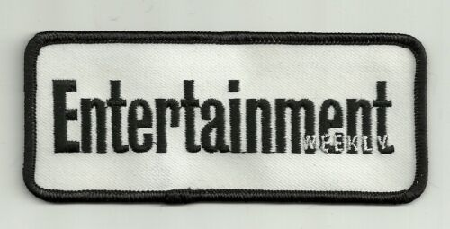 """2/"""" x 4 7//8/"""" Black White Entertainment Weekly Embroidery Applique Patch"""