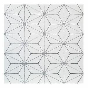 FloorPops-Kikko-Pack-of-10-Peel-amp-Stick-Vinyl-Floor-Tiles-White-Grey-Pattern