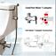 Brass-7-8-034-Cold-amp-Hot-Water-Toilet-Bidet-Sprayer-4-Ways-Mixer-3-8-034-Adapter-Set thumbnail 1