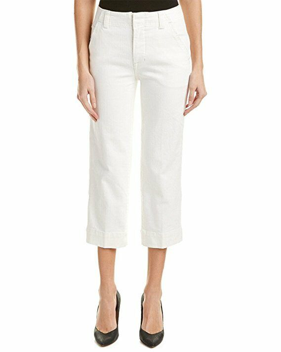New  128 Free People Denim Jeans High-Rise, Wide Leg, White Wash Size 27 NWT