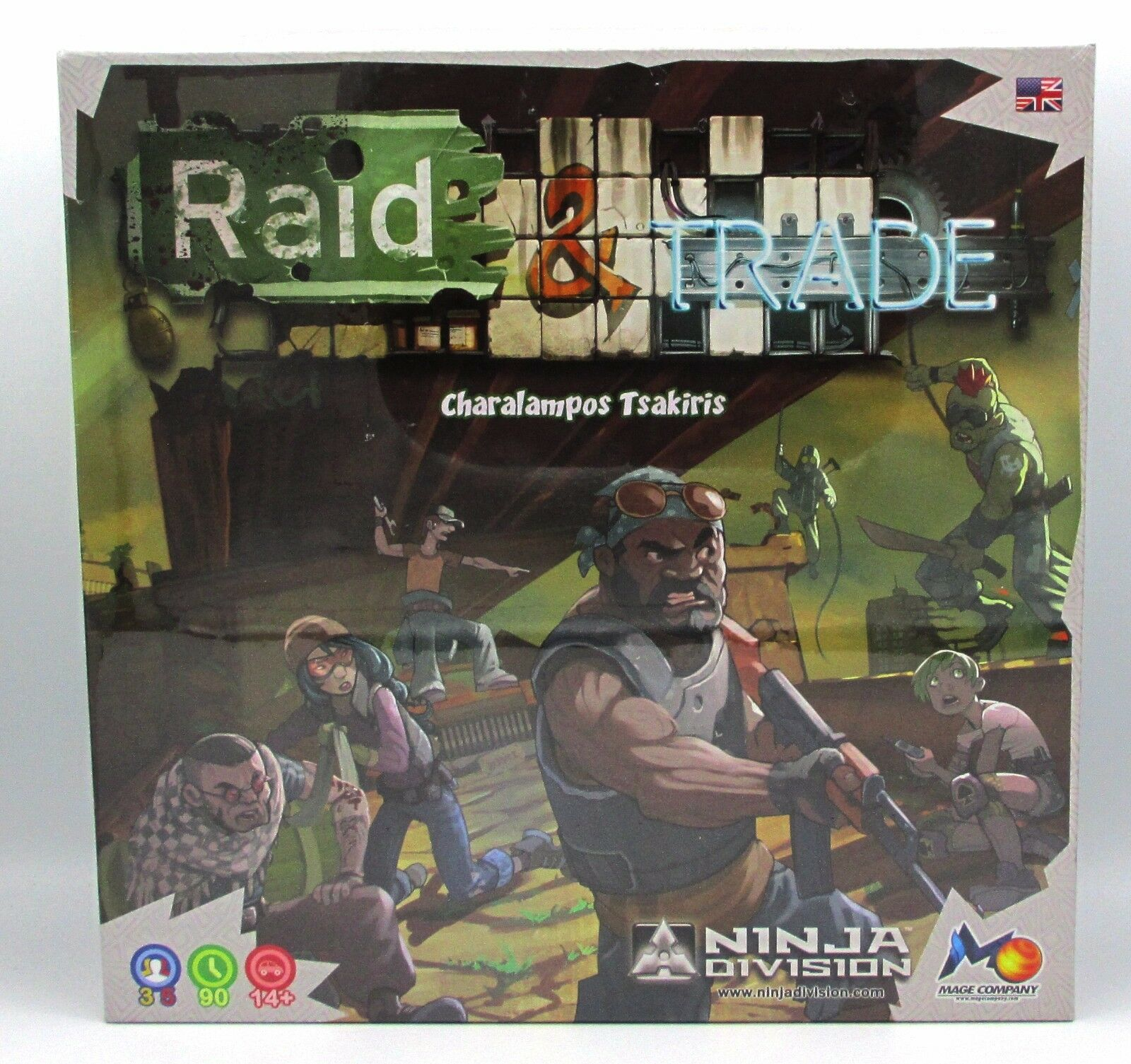 Razzia & handel 420101 brettspiel post - apokalyptischen überleben brettspiel.