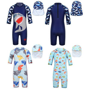 Kids-Baby-Boys-Swimsuit-Swimwear-Bathing-Beach-Rash-Guard-Surfing-Suit-UPF50