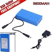 NEW Pro DC12V 9800mAh Rechargeable Portable Li-ion Battery US Plug Battery Pack