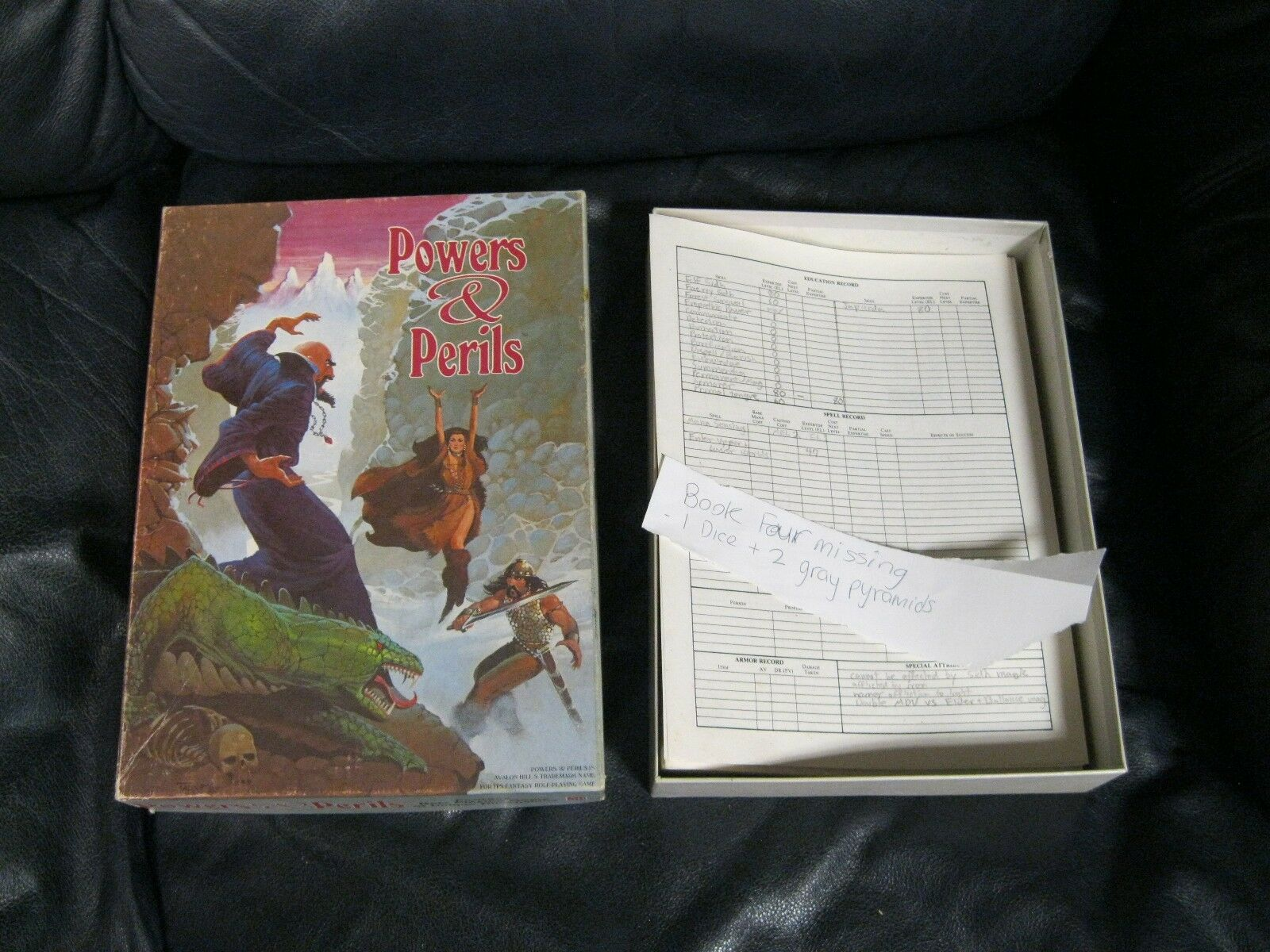 Powers and Perils Role Playing Game Avalon Hill 1980