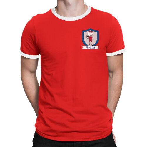 Mens PANAMA Football Doodle Team Badge T-Shirt World Cup 2018 Fan Sports