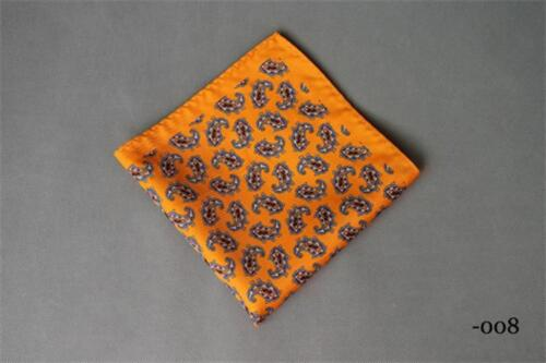 Pocket Square Men/'s Handkerchief Casual Floral Pattern High Quality Hankies Wear