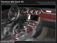 Wood Grain Dash Kit For Ford Mustang 2015-2017 With 4 Vents In Dash