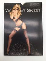Victoria's Secret Lace Top Thigh High Pantyhose Size A White