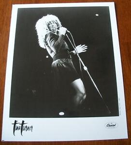 Vintage-Tina-Turner-8x10-B-amp-W-Press-Photo-Capitol-Records-1987