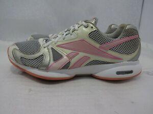 Reebok Easytone Womens Size 10 Pink White Walking Toning Athletic Sneaker Shoes