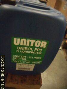 Details about 20 Liters: Unitor Unirol FP3 Fluoroprotein Product 592204