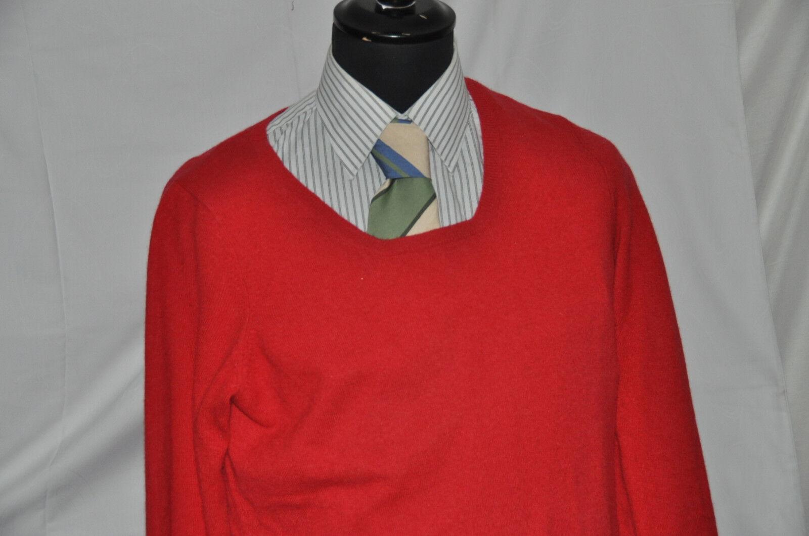 CASHMERE 2PLY  Pullover Rundhals 100%Kaschmir zweifädig ROT Gr. S