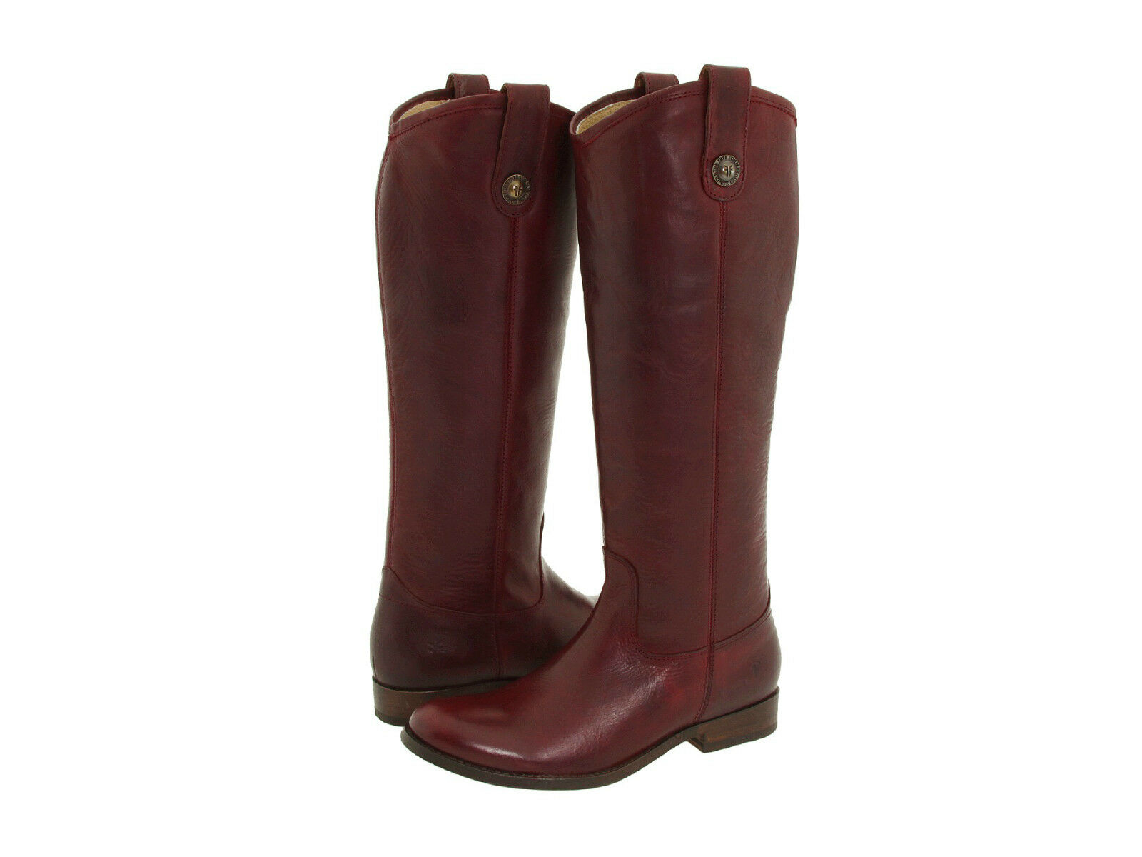 Frye Melissa Button Boots Bordeaux Western Riding Equestrian Retail NIB $348 NIB Retail New 5df4e8