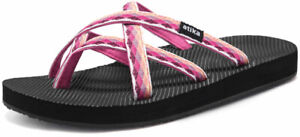 ATIKA Women's Sandals, Water Beach Flip Flops, Arch Support Platform Sandals,