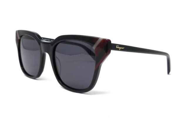 092ff101768 Salvatore Ferragamo Sunglasses Sf875s 001 Black Rectangle 53x20x145 ...