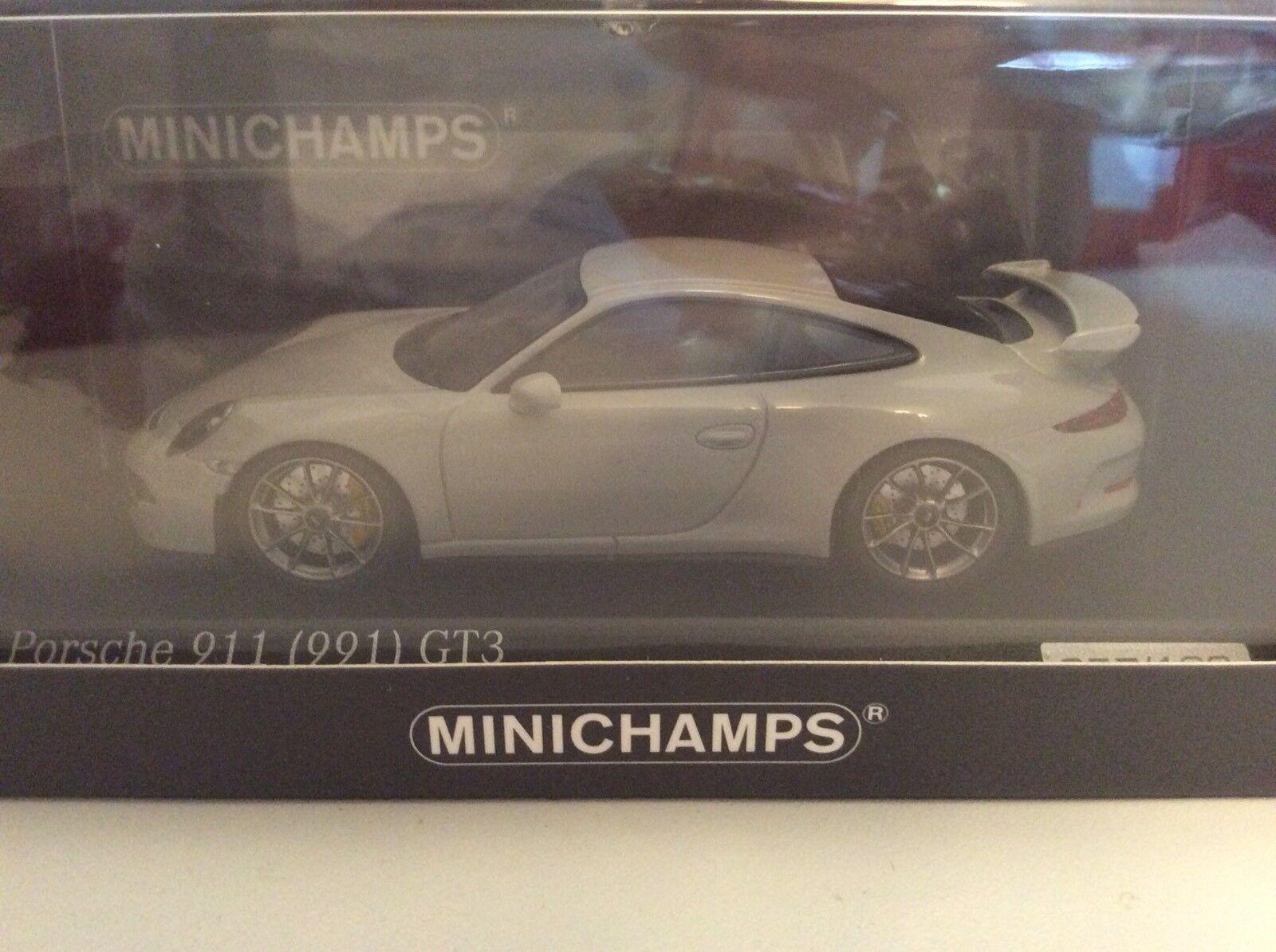 Minichamps  1 43 Porsche 911 991 gt3 mode gris voituretima SeuleHommest 100 Pièces Nouveau neuf dans sa boîte  Envoi gratuit pour toutes les commandes