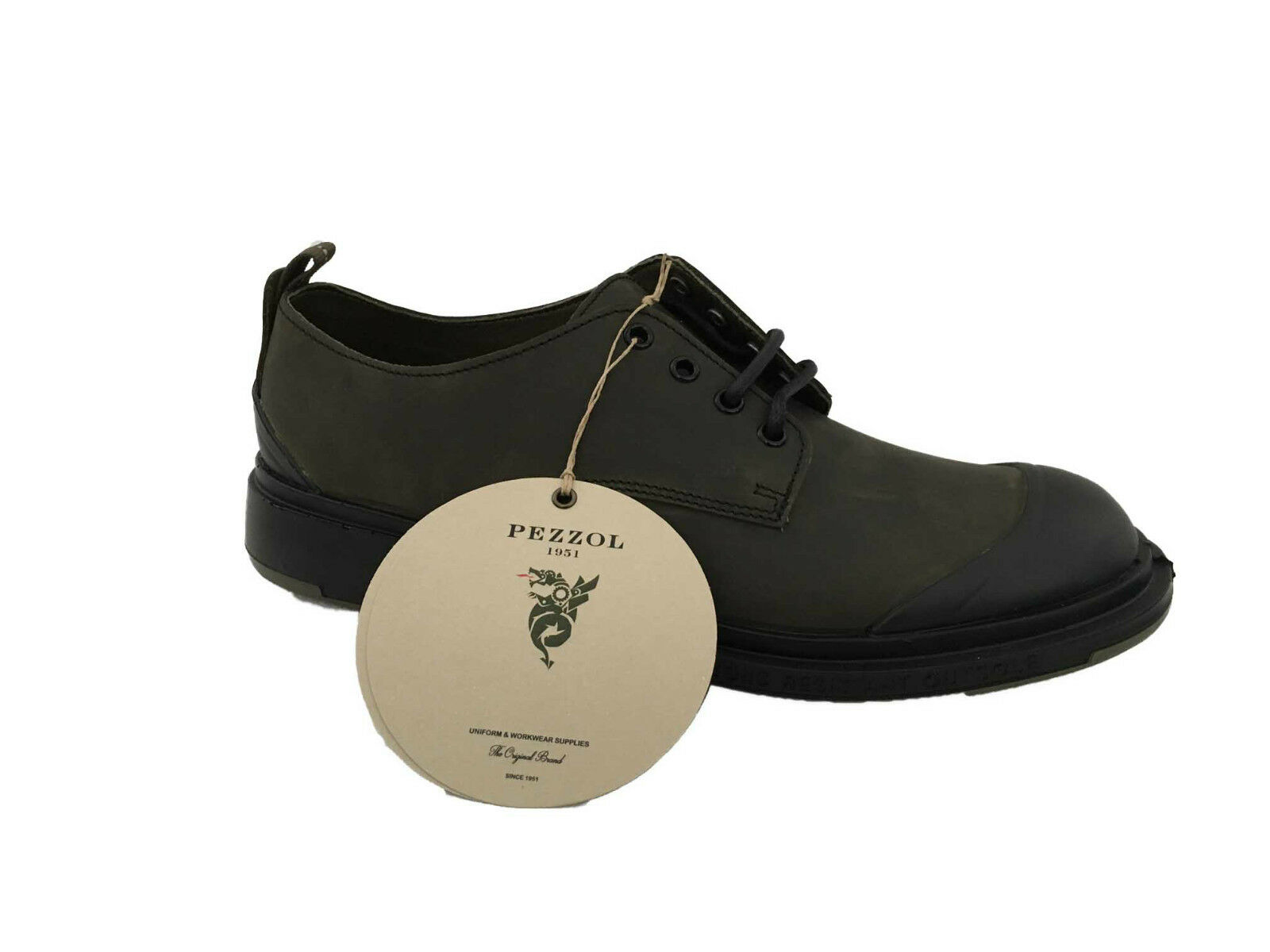 PEZZOL1951 Zapatos hombre 009FZ-10 in  gomma verde mod DEFENDER 009FZ-10 hombre MADE ITALY c98881