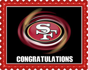 Image Is Loading San Francisco 49ers B Edible Cake Topper OR