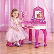 Girls Vanity Set Furniture Bedroom Princess Child Make Up Toy Table Kids Desk