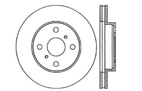 Centric Parts 121.44038 Front Disc Brake Rotor 9888R PRT1506